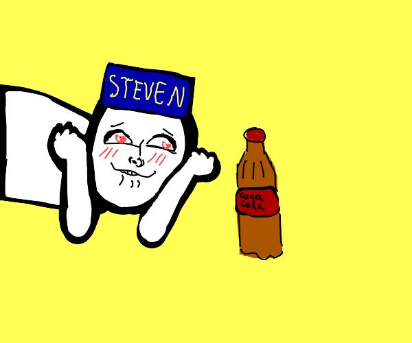 Steven loves his coca cola