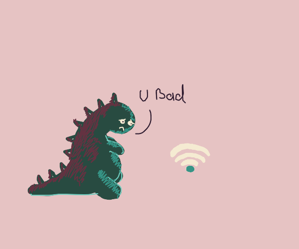 little dragon sad because the internet is bad