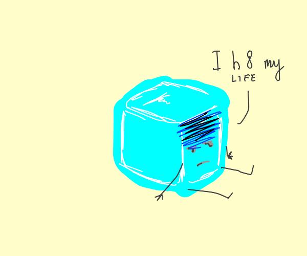 depressed ice cube