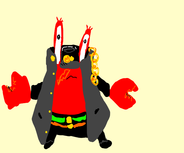 Mr. Krabs in a Jotaro costume