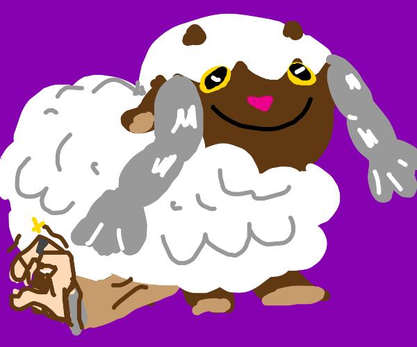 Gordie gets crushed by a Wooloo