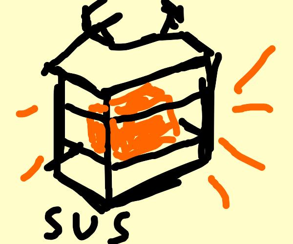 lantern saying 'sus'