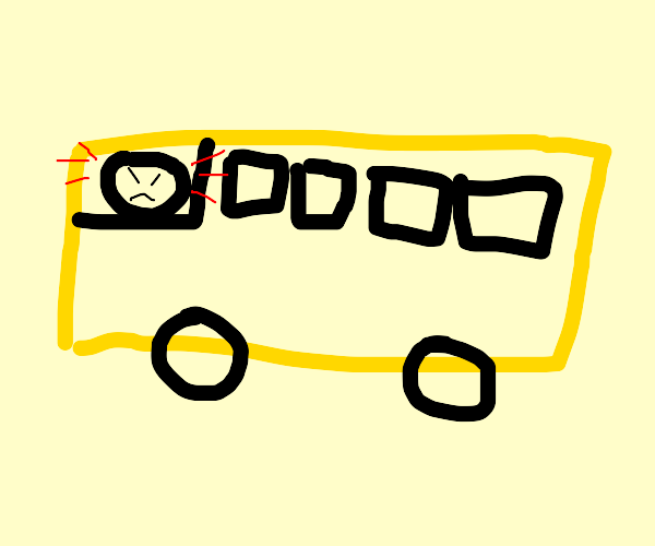 angry school bus driver