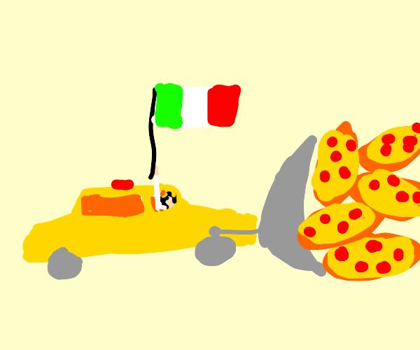 Italian taxi-bulldozer