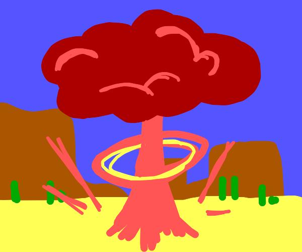 Nuclear bomb test in Arizona (oof)
