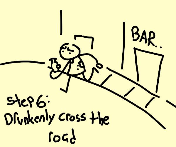 Step 5: Drink alcohol depressingly