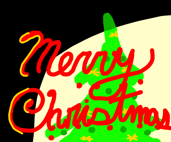 """Merry Christmas"" in cursive"
