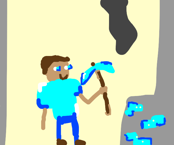 steve mining diamonds