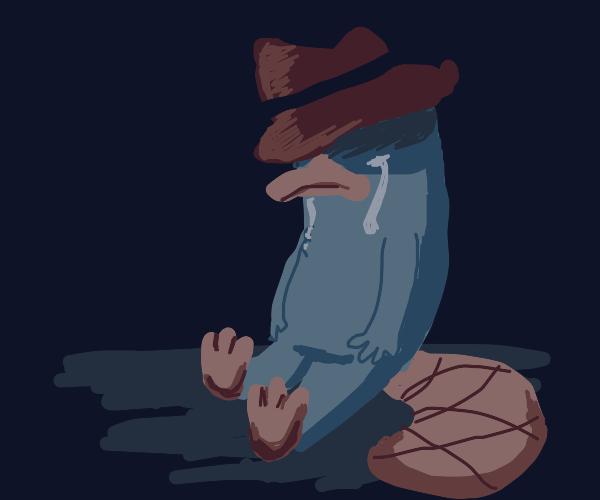 depressed perry the platapus