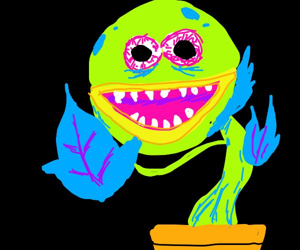 Venus flytrap as vibe check emoji