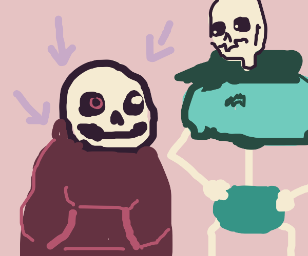 skeleton dude wearing a hoodie