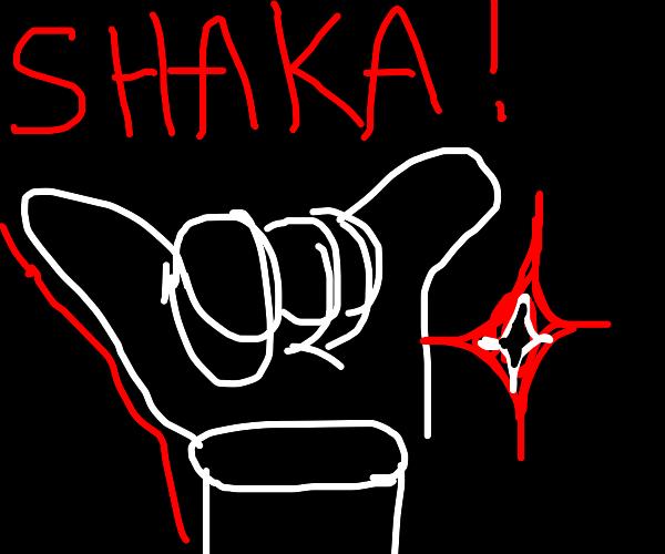 Shaka hand gesture