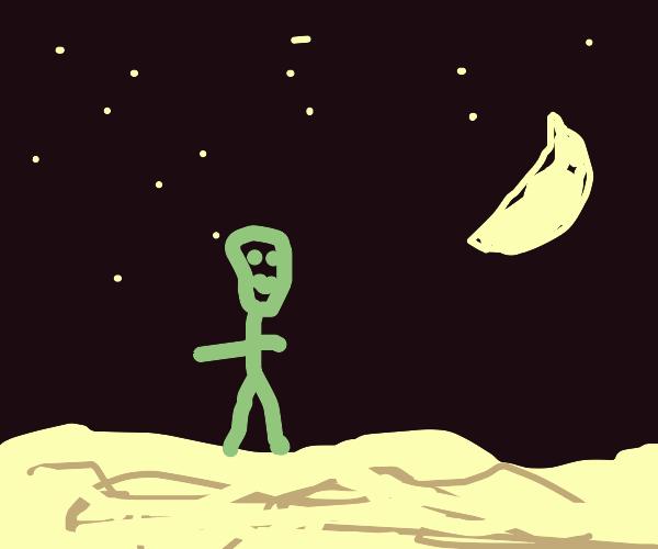 Guy in Desert at Night