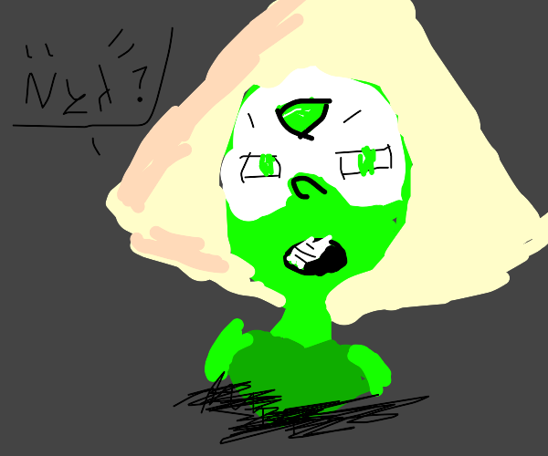 "Peridot is confused at the concept of ""Nya"""