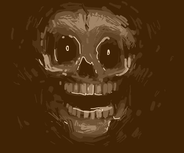 A shocked skull