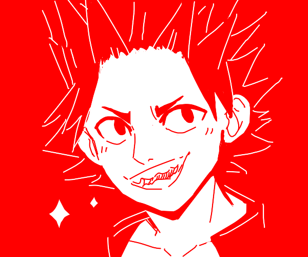 eijiro kirishima from BNHA (look it up)