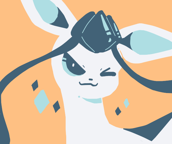 Glaceon winks