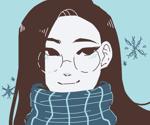 Girl wears glasses and scarf