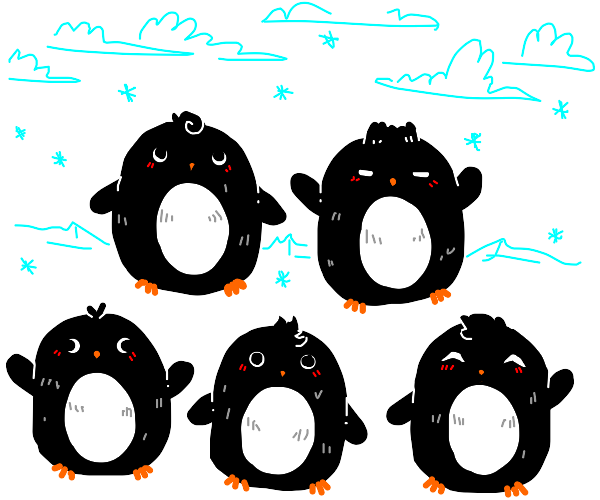 Penguins (cute, pllural)