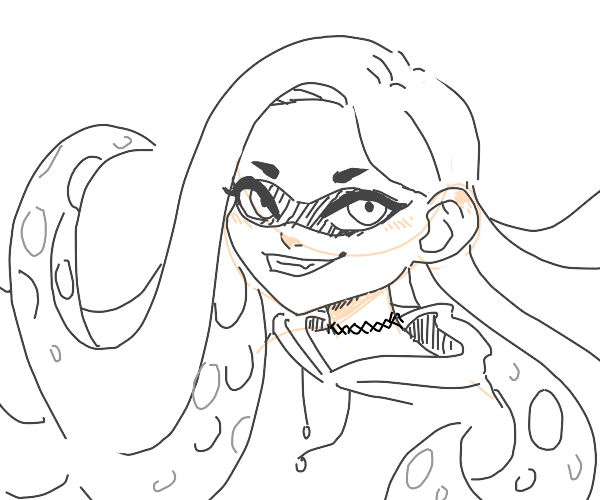 your oc but in splatoon style