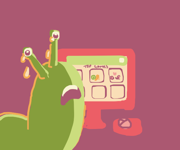 Slug sadly watches all the snails in top game
