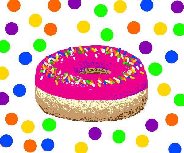 a yummy sprinkle doughnut