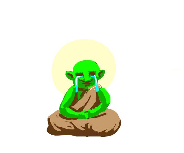 Goblin tears up as he contemplates existence