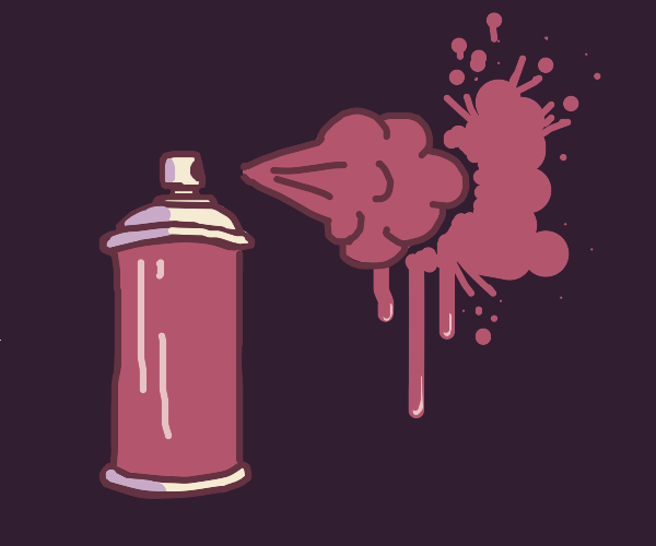 Pink can of spray paint