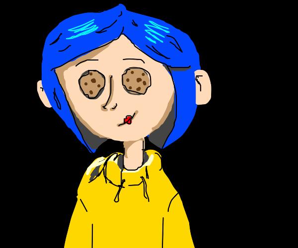 coroline but cookie eyes
