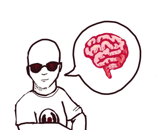 Bald Dave Strider talking about the brain