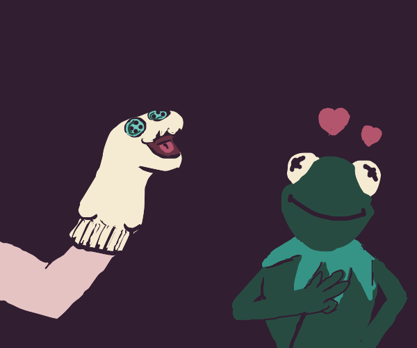 kermit falls in love with a sock puppet