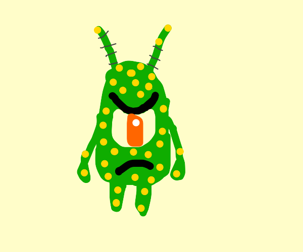 Angy plankton is spotty