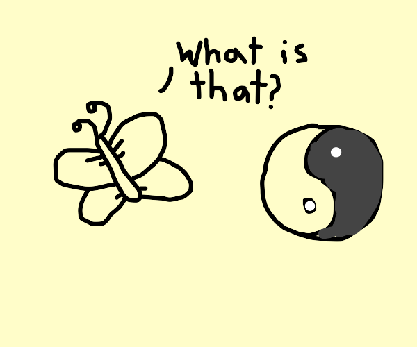 butterfly doesn't know what yin yang is