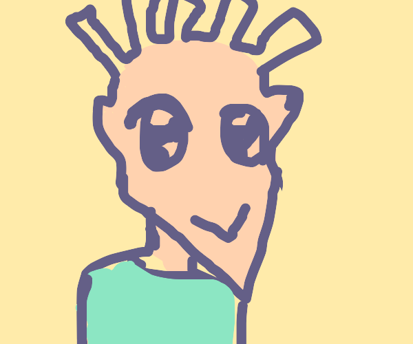 french fries hair anime boy