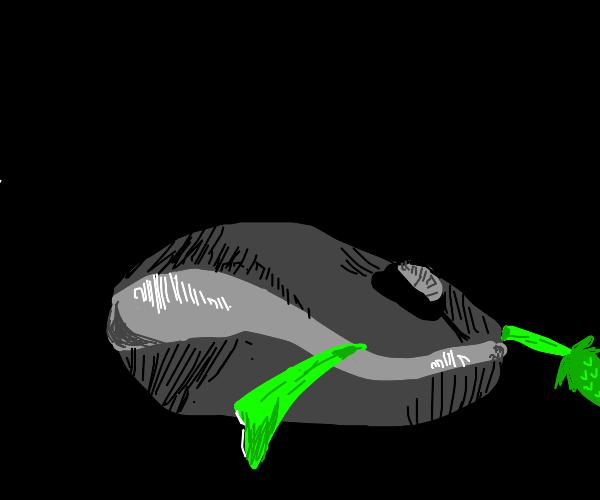 a computer mouse eats a vegatable
