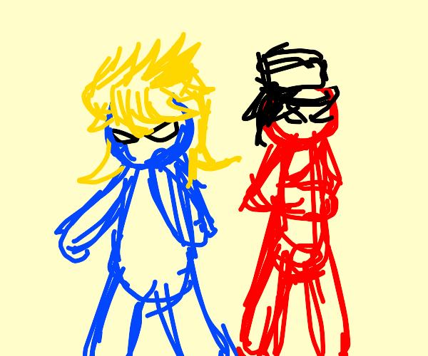 Cookie Monster Dio and Elmo Jotaro