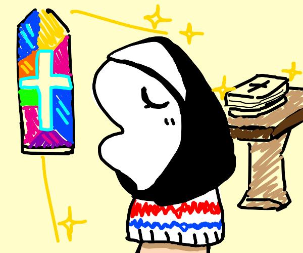 Religious sock puppet