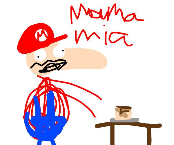 mario yells at creme brulee