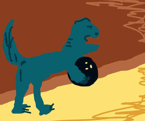 dinosaur bowling