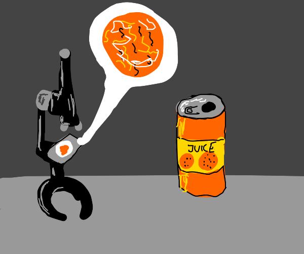 Orange juice under a microscope