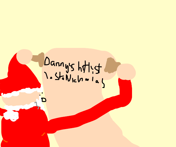 Santa sees his own name on the naughty list