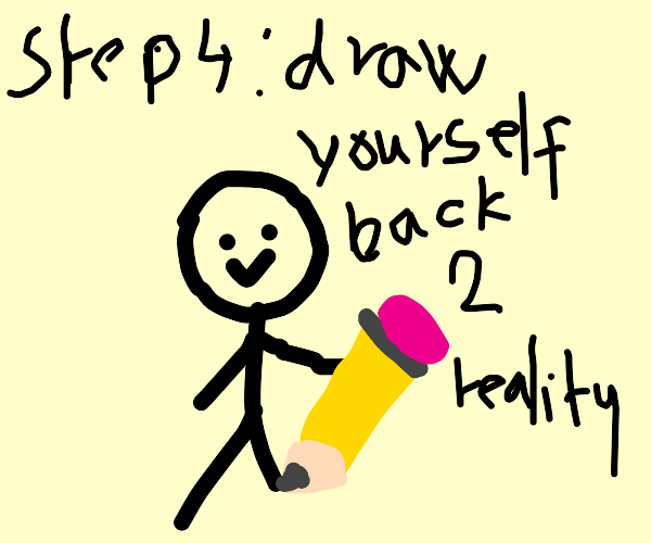 Draw Step 3 (Step 2 was Erase Yourself)
