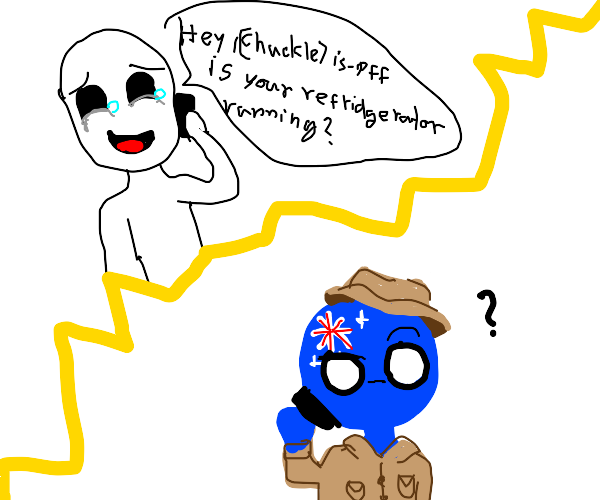 Prank calling Australia