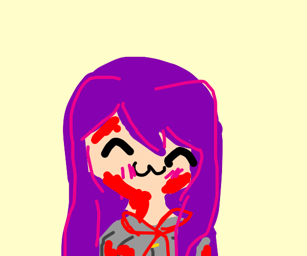 Yuri covered in blood (DDLC)