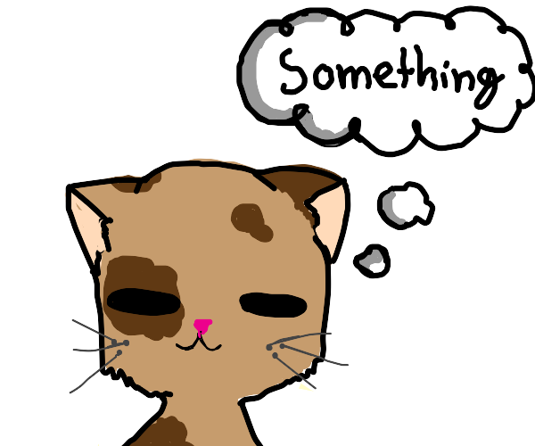 cat thinks about something