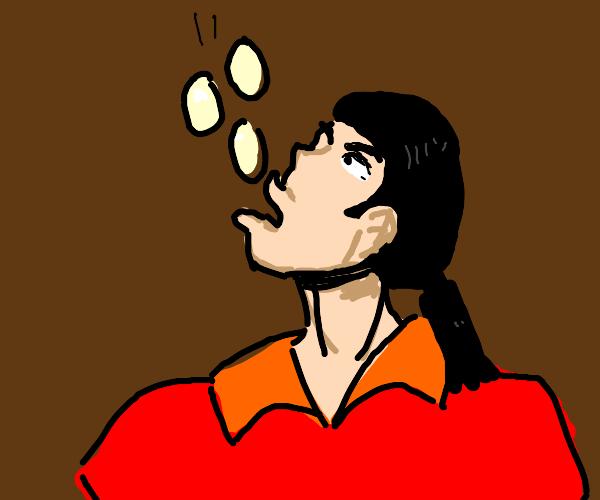 Gaston eats eggs