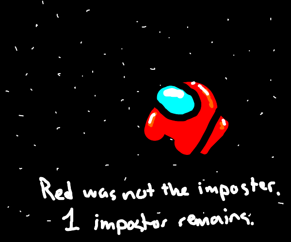 Red crewmate in space