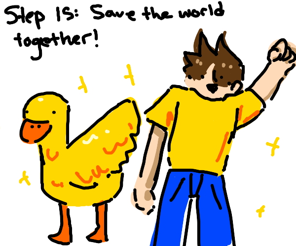 Step 14: befriend the duck and be adventurers