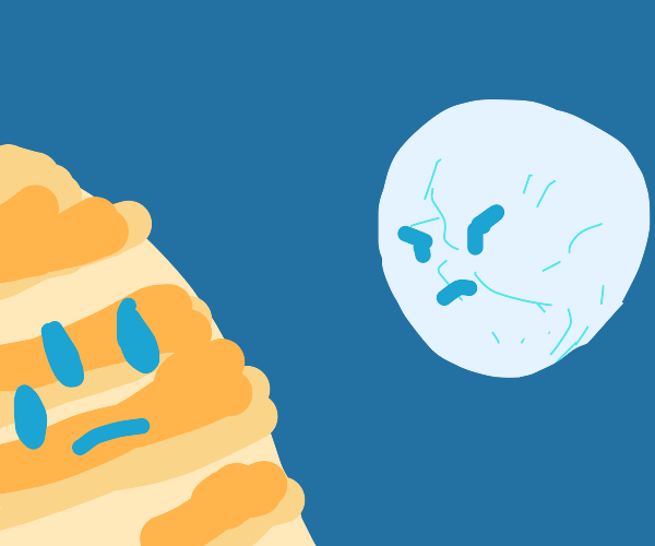 One of Jupiter's moon is very angry