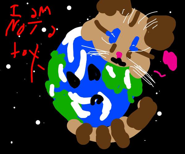 I lik holding earth